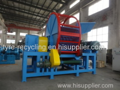 Waste Tire Shredder Machinery