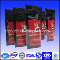 coffee pouches with degassing valve