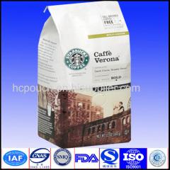 sides gusset aluminum foil coffee packaging bag
