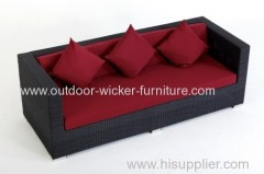 Garden rattan wicker sofa for all weather