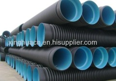 hot sale China Double-wall corrugated HDPE pipe