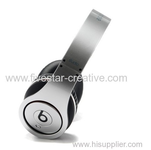 Beats by Dr.Dre Beats Studio Over-the-ear Silver Headphones Folding