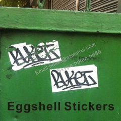 breakable eggshell sticker for arts graffiti