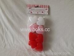 Plastic Valentine heart shape container