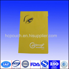 colored plastic packaging bag for eye