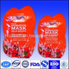 special shape plastic facial mask bags