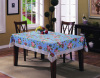 Wipe Clean PVC Tablecloth with Flannel Back