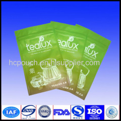 resealable plastic bags for tea packaging