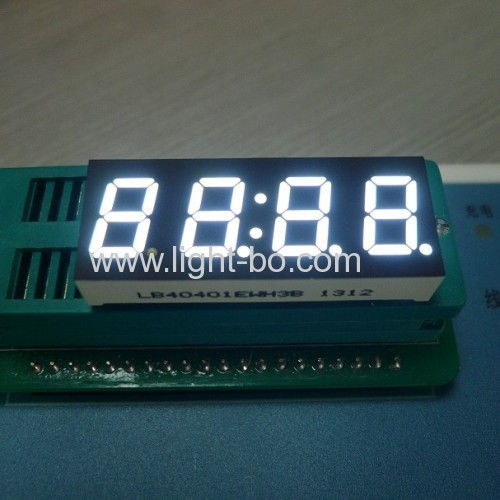 White 4-Digit 7 segment led display 0.4common cathode for instrument panel
