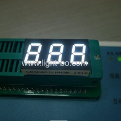 "white 3 digit 0.4"" 7 segment led display ; triple digit 0.4"" white 7 segment display"