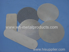 Extruder screen wire cloth filter discs