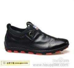 Blue Blue leather shoes