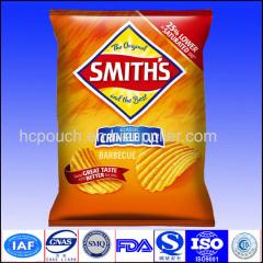 China custom heat seal plastic potato chips bags with handhole