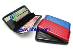 Promotional big size aluminum card holder with mirror