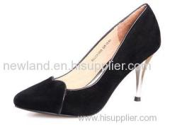 Ladies genuine leather suede pumps shoes