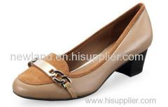 ladies sheep skin pumps shoe