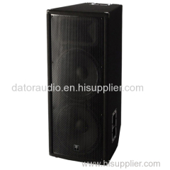 15-inch Two-way Black Carpet Passive Pro Audio Loudspeaker System