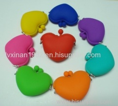 new candy-colored silicone purse heart-shaped packet of silica on big promotion