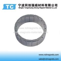 arc magnet shape for motors