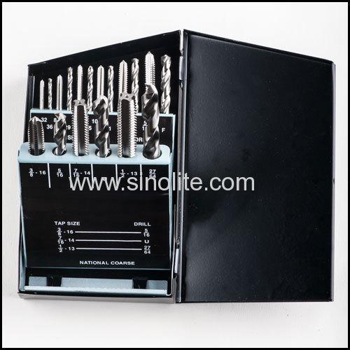 18pcs Metric system taps and drill set ASME/ANSI B94.9