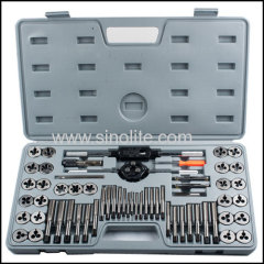 60pcs Metric tap and die set ASME/ANSI B94.9