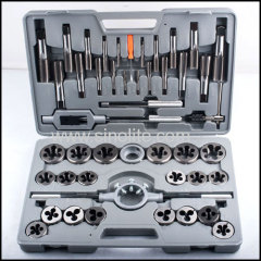 45pcs Inch system taps and dies set ASME/ANSI B94.9