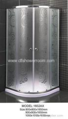 5MM Matte glass with walk in shower enclosure