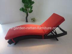 Outdoor PE rattan lounge patio beach chair