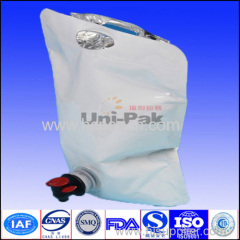 aluminum foil special washing shape pouch with handhole and spout