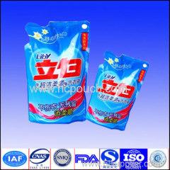 PET/PE 3 sides seal washing powdered bag with tear notch