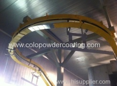 Automatic powder spray plant