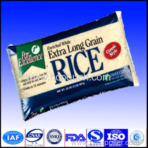 5kg plastic rice vacuumed packing bag