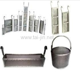 Titanium Anode Basket fits the 4 liter beaker MMO or Ti raw material
