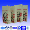 printed quad seal paper package bag