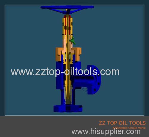 Wellhead adjustable choke valve API6A