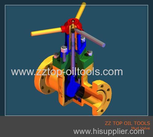 Wellhead mud gate valve API6A
