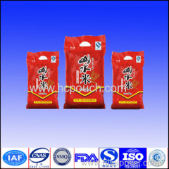 25kg PP Woven Rice Packaging Bags with high quality