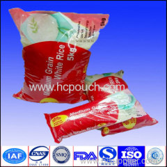 Plastic Rice packaging pouch with zipper