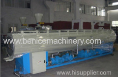 Pipe extrusion line for pe