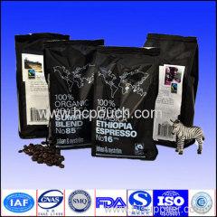 Hot sale custom side gussted coffee bag for 250g 500g 1kg