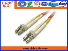 Standard LC-LC multimode duplex optical fiber patch cords