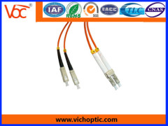 LC/PC to SC/PC multimode network optical fiber patch cord