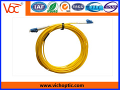 China made LC to LC/PC single mode duplex optical fiber patch cord
