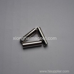 Supplier Cylinder magnet Grade N35 size D5X20mm for sale