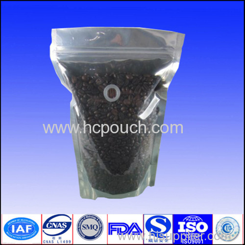 stand up coffee bean bag with valve