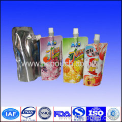 stand up drink bag with spout /drink doypack