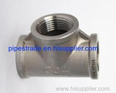 stainless steel casting mss sp-114 pipe fittings-tee