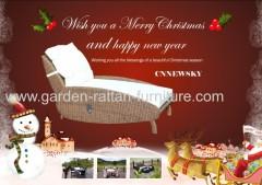 Outdoor round rattan garden lounger for new year