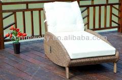 Outdoor garden PE round wicker lounge