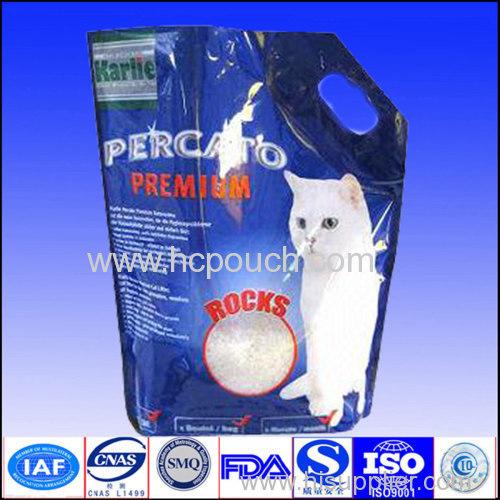 Gravure printed stand up aluminum foil pet food bag